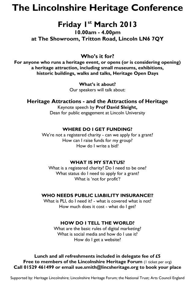 lincolnshire heritage conference text