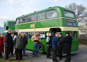 The museum contains over 60 vehicles, many having local connections. Here are two Bristol buses from the Lincolnshire Road Car fleet running on scheduled service at the Easter 2013 Open Day.