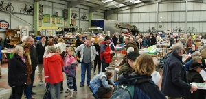 The LVVS bought its Whisby Road premises in North Hykeham in the 1960s. Here is the main exhibition area built in 1993, turned over to stallholders selling books, models, spares and accessories and many other good things at the 2013 Easter Open Day. A new workshop and storage area are through the door at the back.